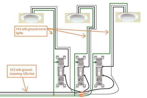 How To Wire 3 Light To One Switch Diagram by Electrical How Do I Wire A 3 Switch In My New Bath