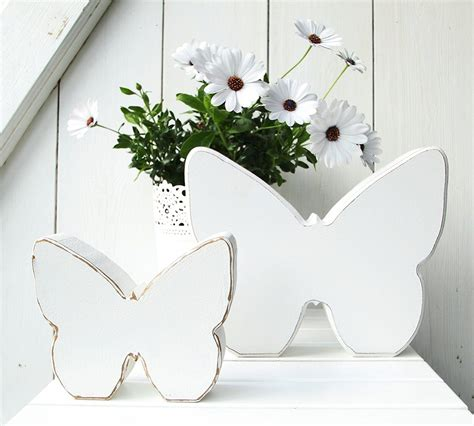 Shabby Style Deko by Shabby Chic Homethings Deko Holz Schmetterling 2er Set