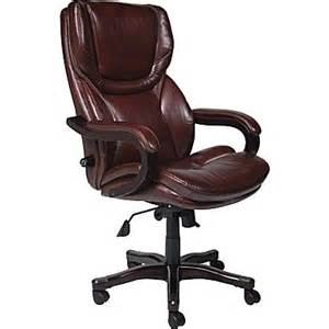 serta executive big office chair eco friendly bonded leather brown staples 174