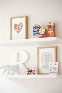 Ikea floating shelves - cute prints Home Children's