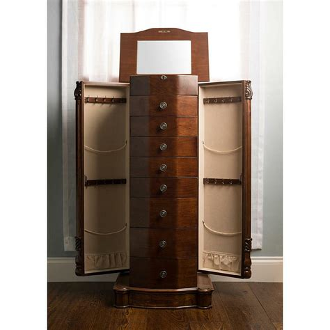 Armoire Jewelry Chest by Louis Xvi Walnut Armoire Storage Cabinet Chest Stand