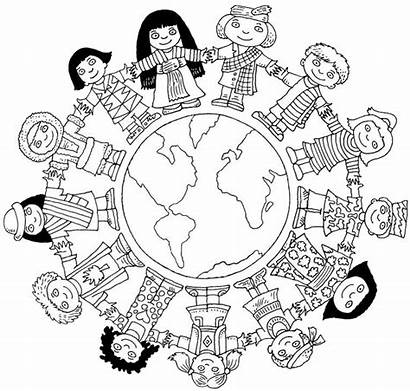 Coloring Unity Diversity Pages Sheet Map Students
