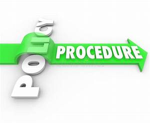 Procedure Arrow Jumping Over Policy Word Practice Process Stock Illustration