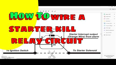 How Wire Starter Kill Circuit Relay Youtube