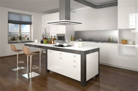 photo de cuisine ouverte avec ilot central exemple de cuisine avec ilot central awesome decoration