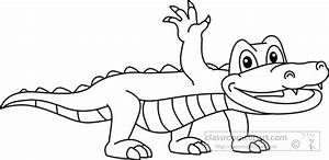 Alligator Black And White Clipart - Clipart Kid