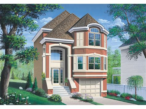 Narrow Lot House Plans Garage Under