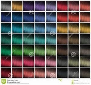 Palette pour la teinture de cheveux image stock image for Couleur pastel pour salon 13 palette pour la teinture de cheveux image stock image