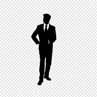 Silhouette Business Clipart Person Transparent Background Handsome