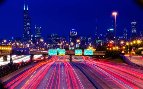 wallpaper city cityscape night road long exposure