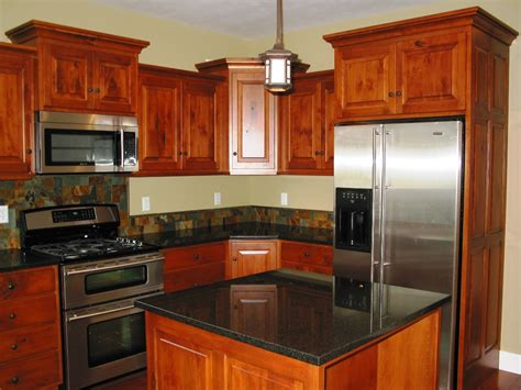 kitchen remodeling cherry wood kitchen cabinets black