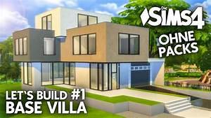 Modernes Haus Grundriss : die sims 4 haus bauen ohne packs base villa 1 ~ Lizthompson.info Haus und Dekorationen