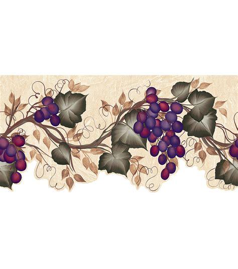 Wallpaper Of Border by Grape Vine Die Cut Wallpaper Border Green Jo