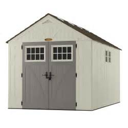 suncast tremont 8 ft x 13 ft d resin storage shed