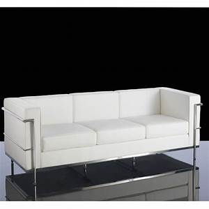 Leather reception sofa in black or white black and for Black leather sectional sofa uk
