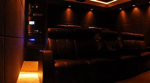 Outstanding Edmonton Black Four Seat Home Theater Seating