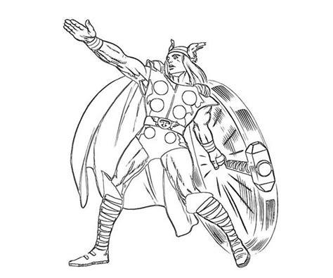 Kleurplaat Thor by Thor 110 Superheroes Printable Coloring Pages