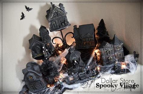 halloween village diy dollar store craft   avenue