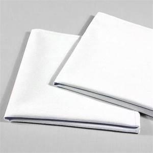 Serviette De Table Blanche : serviette de table tissu blanc uni 42 x 42 cm falaise r ception ~ Teatrodelosmanantiales.com Idées de Décoration