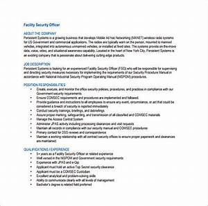 Tips to write your security officer resume for Training officer job description template