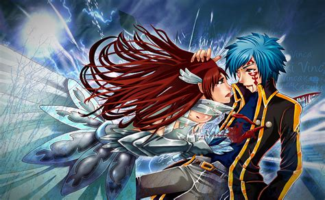 jellal  erza fairy tail daily anime art