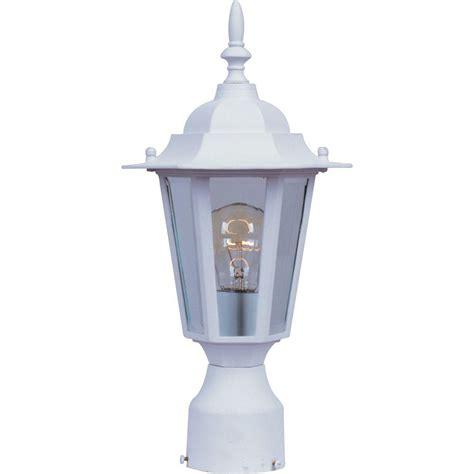 outdoor ls home depot maxim lighting builder cast 1 light white outdoor pole