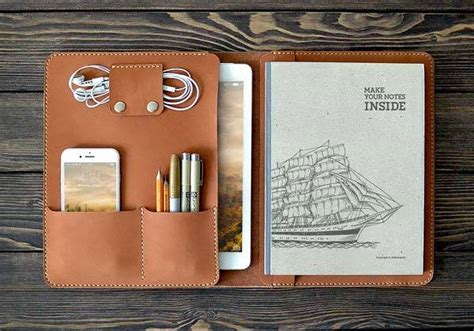 The Handmade iPad Pro Leather Case Holds Your 9.7