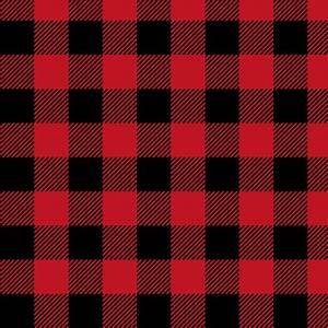 buffalo plaid black and red kids cute nursery hunting ...