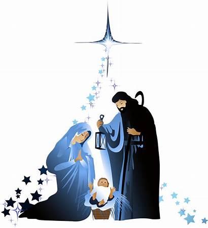 Nativity Jesus Transparent Clipart Holy Christian Scene