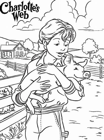 Web Coloring Charlotte Charlottes Pages Printable Activities