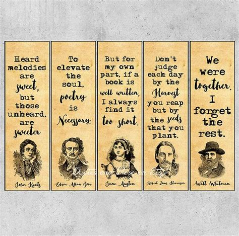 authors quotes bookmarks literary bookmarks printable