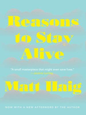 Reasons to Stay Alive by Matt Haig · OverDrive: eBooks ...