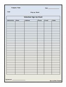 40 sign up sheet sign in sheet templates word excel With customer sign in sheet template