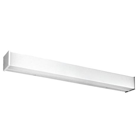 Fluorescent Bathroom Light Fixtures Wall Mount by Lithonia Lighting 4 Ft 2 Light Wall Or Ceiling Mount
