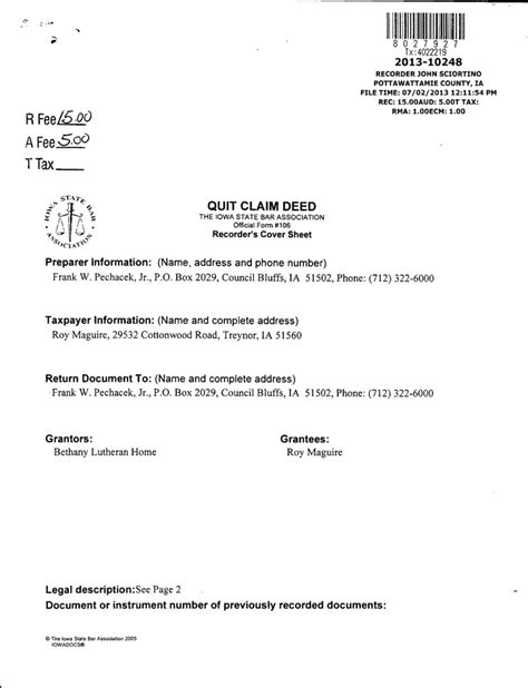 quit claim deed form iowa pdf quitclaim deed template free template download customize