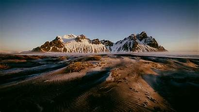 Landscape Winter Wallpapers Mountain Iceland Vestrahorn Desktop