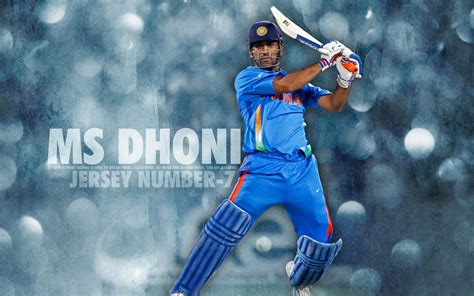 M S Dhoni Indian Cricketer Wide Wallpaper