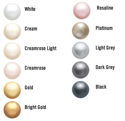 color pearl 21 best accessory images on colour chart