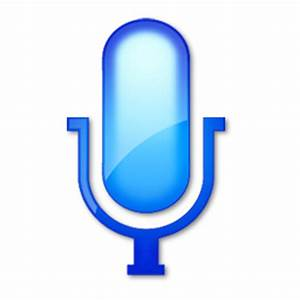 Plain Blue Microphone Hot Icon - Vista Play Stop Pause ...