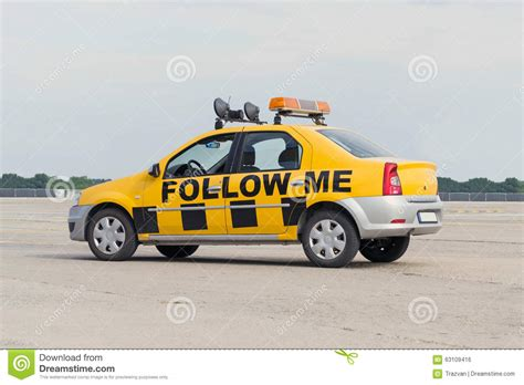 Airport Cars by Follow Me Airport Car Stock Photo Image Of Guidance