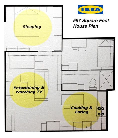 ikea kitchen floor plans ikea s 597 square foot house plan 2 bedrooms kitchen and 4532