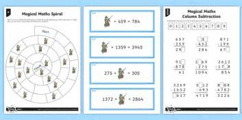 inverse operations magic maths differentiated worksheet