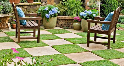 better homes and gardens paving patchwork paving checkerboard your backyard with style better homes and gardens