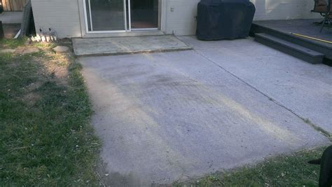 how to build a paver patio on a cement slab step 1