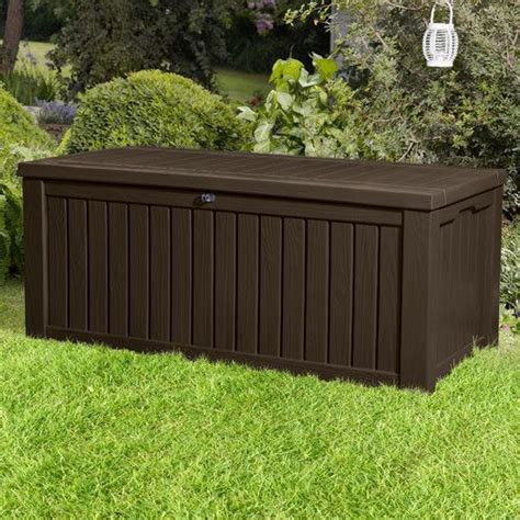 keter rockwood deck box white best 25 outdoor storage boxes ideas on