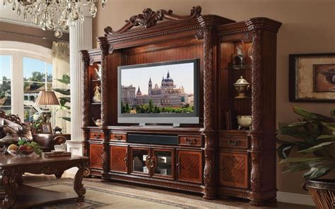 Acme VENDOME 91315 Set 4 Cherry TV Entertainment Center
