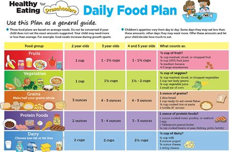 daily food plan for preschoolers suggested by usda food 455 | ea0a1707d3896e7e7077339d27b6c88f healthy toddler meals toddler food