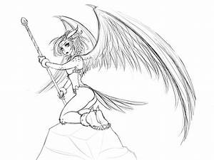Dragon Bird Girl Sketch by RoninDude on DeviantArt