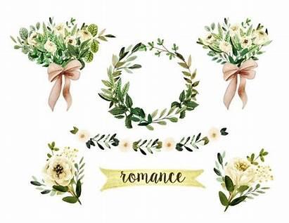 Rustic Clipart Floral Watercolor Hochzeit Aquarell Cliparts
