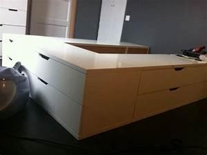 Lit Ikea Diy Pour Stockage Plateforme Bidouilles Ikea